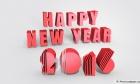 Happy New Year 2016 3D Beautiful Design