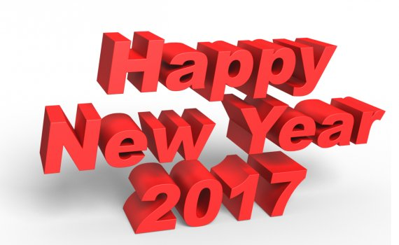 Happy New Year, New Year 2017, New Year's Day, New Year's Eve, Happy 2017 New Year, 2017 3D Image