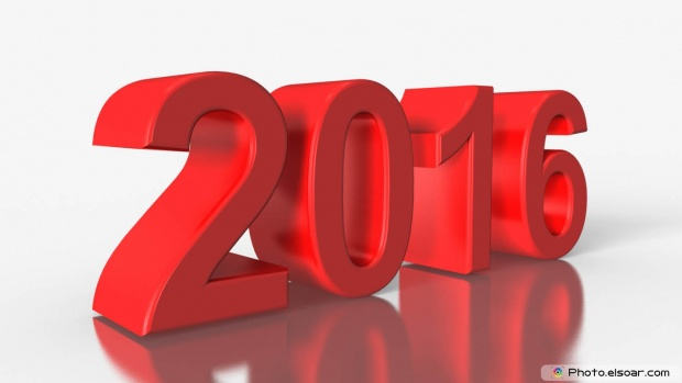 Happy New Year 3D Text Message 2016