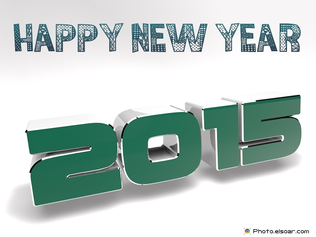 Elegant Happy New Year 2015 Free 3D Wallpapers