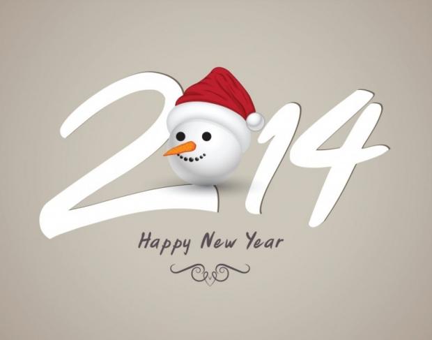 Cute Design Happy New Year 2014
