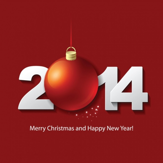 Happy new year 2014 celebration greeting card design