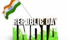 Happy Republic Day with Stylish Indian Flag Wallpaper