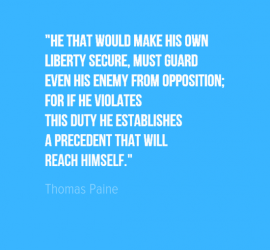 He that would make his own liberty secure