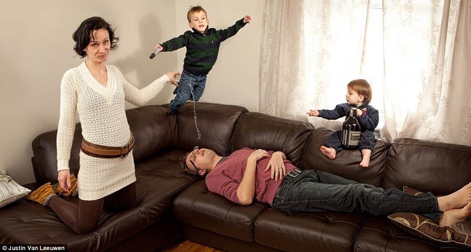 Hilarious Family Photographs by Justin Van Leeuwen