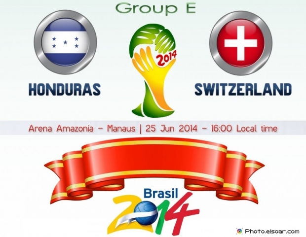 Honduras Vs Switzerland - World Cup 2014 - 25 Jun 2014 - 16:00 Local time - GROUP E - Arena Amazonia - Manaus