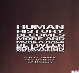 Human history becomes more