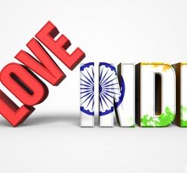 I Love India 3D Image