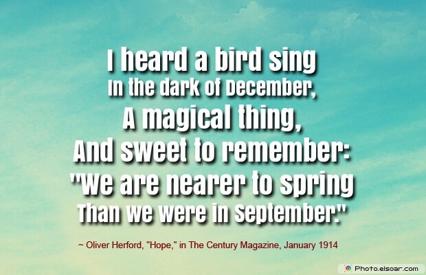 Oliver Herford,Hope, December Quotes, Sayings About December, Quotes Images