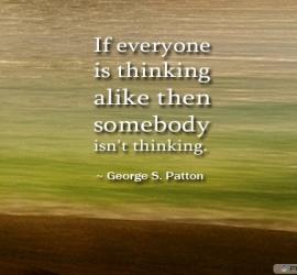 If everyone is thinking alike