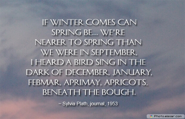 December Quotes, Sayings About December, Quotes Images, Sylvia Plath, Winter