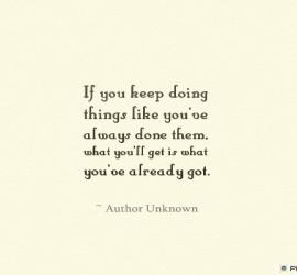 If you keep doing things like