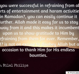 If you were successful in refraining