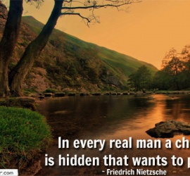 In every real man a child