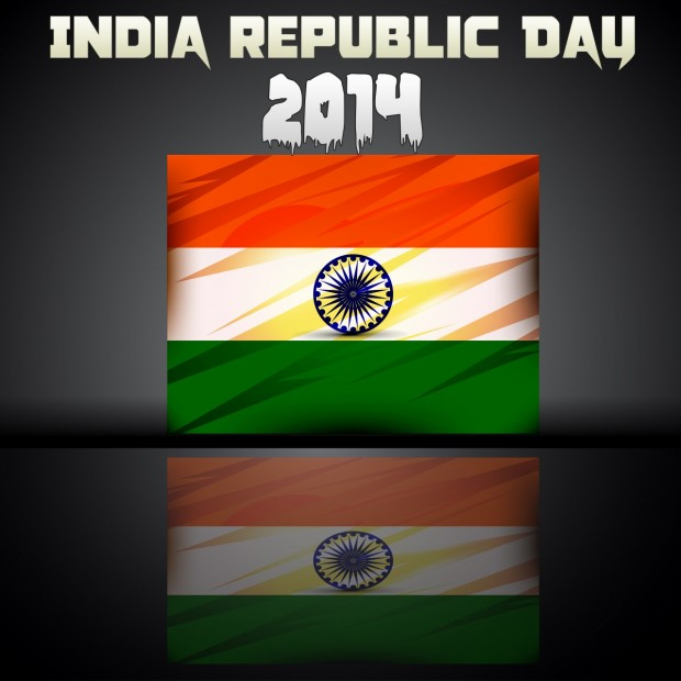 India Republic Day 2014 With The Flag