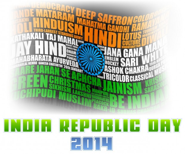 India Republic Day 2014 With Flying Flag