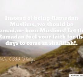 Instead of being Ramadan Muslims