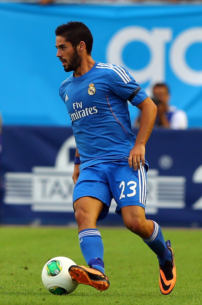 isco with real madrid jersey blue