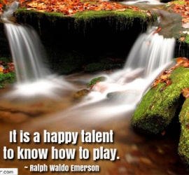 It is a happy talent to know how to play