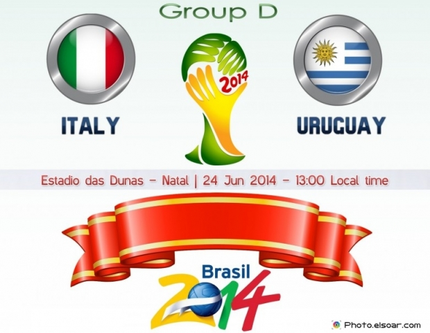 Italy Vs Uruguay - World Cup 2014 - 24 Jun 2014 - 13:00 Local time - GROUP D - Estadio das Dunas - Natal