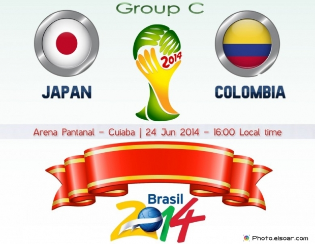Japan Vs Colombia - World Cup 2014 - 24 Jun 2014 - 16:00 Local time - GROUP C - Arena Pantanal - Cuiaba