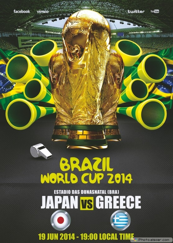 Japan vs Greece - World Cup 2014 - 19 Jun 2014 - 19:00 Local time - Group C - Estadio das Dunas - Natal