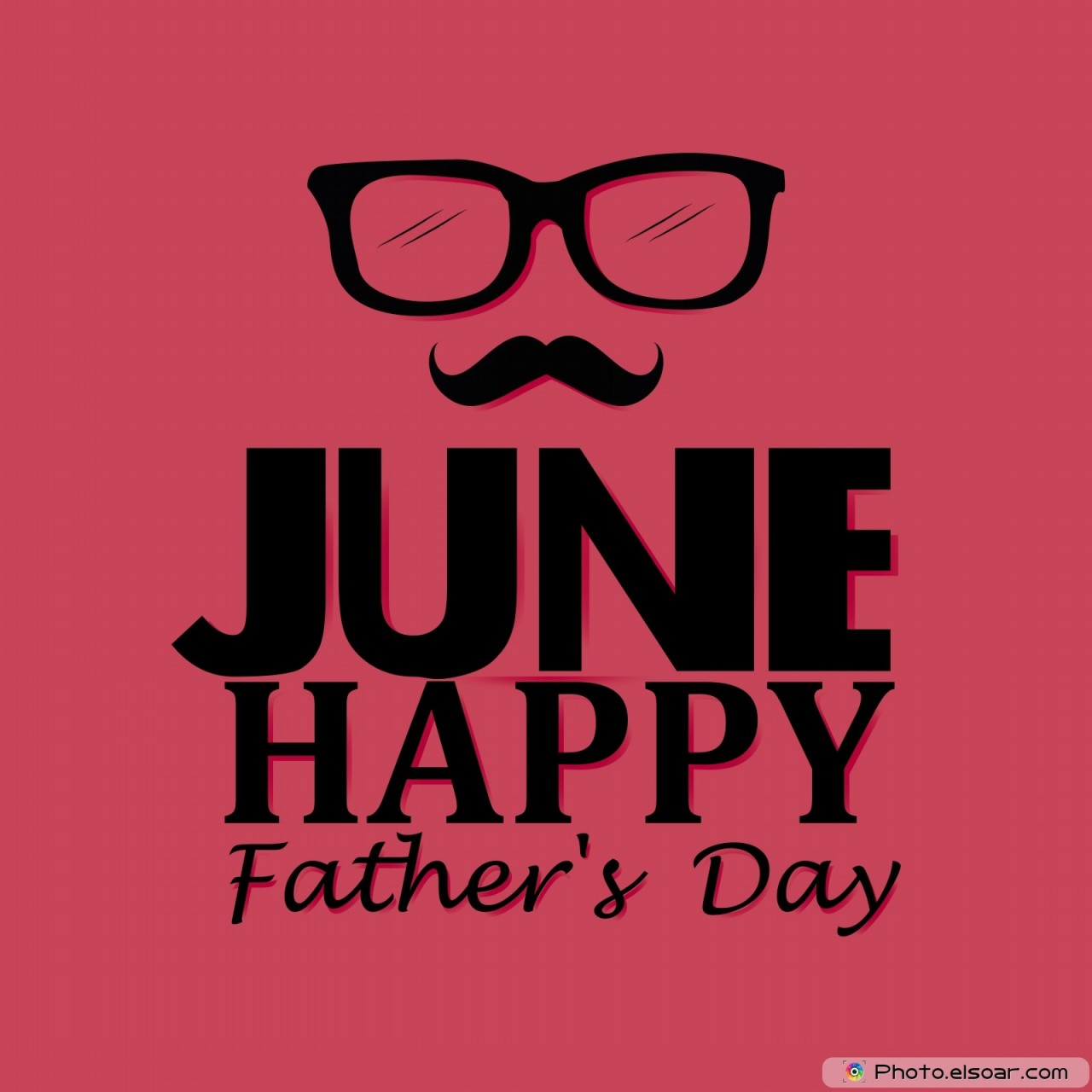 June. Happy father's day on red background