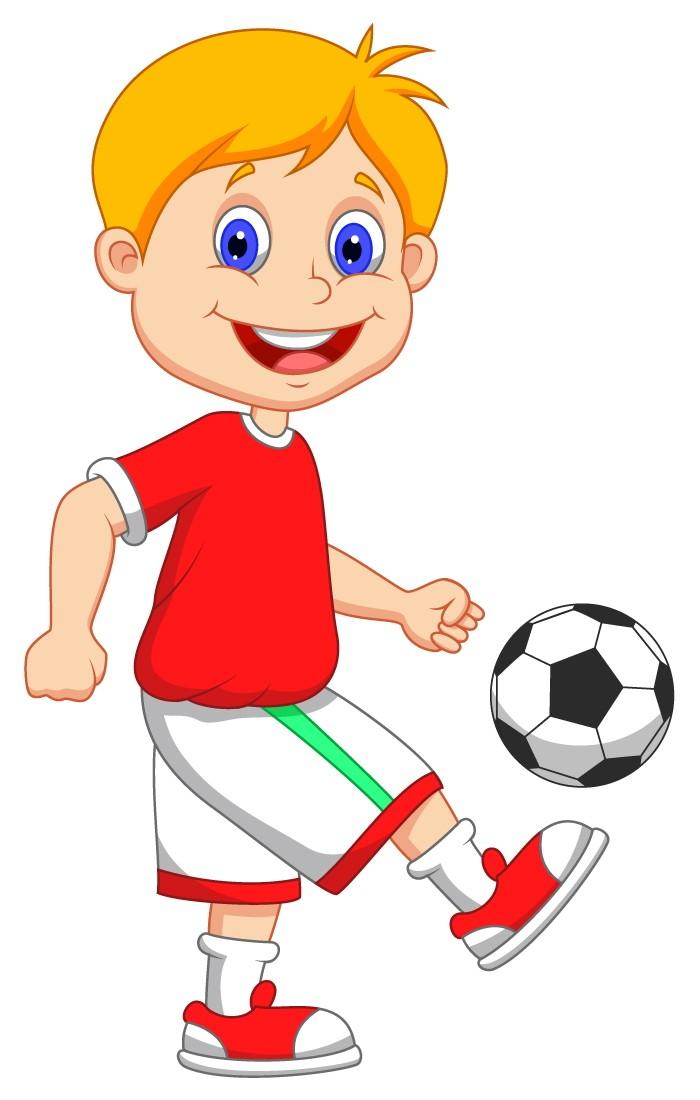 Kids Playing Soccer. Free Cartoon Images - ELSOAR