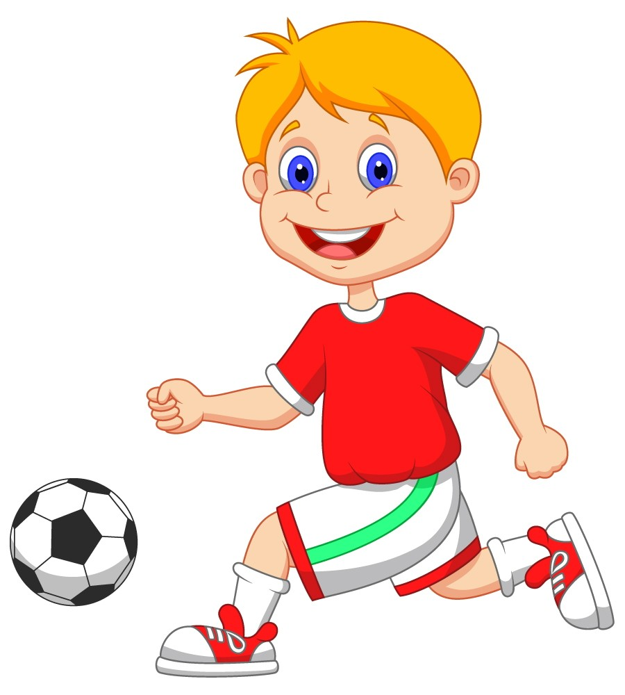 kid football player cartoon image e