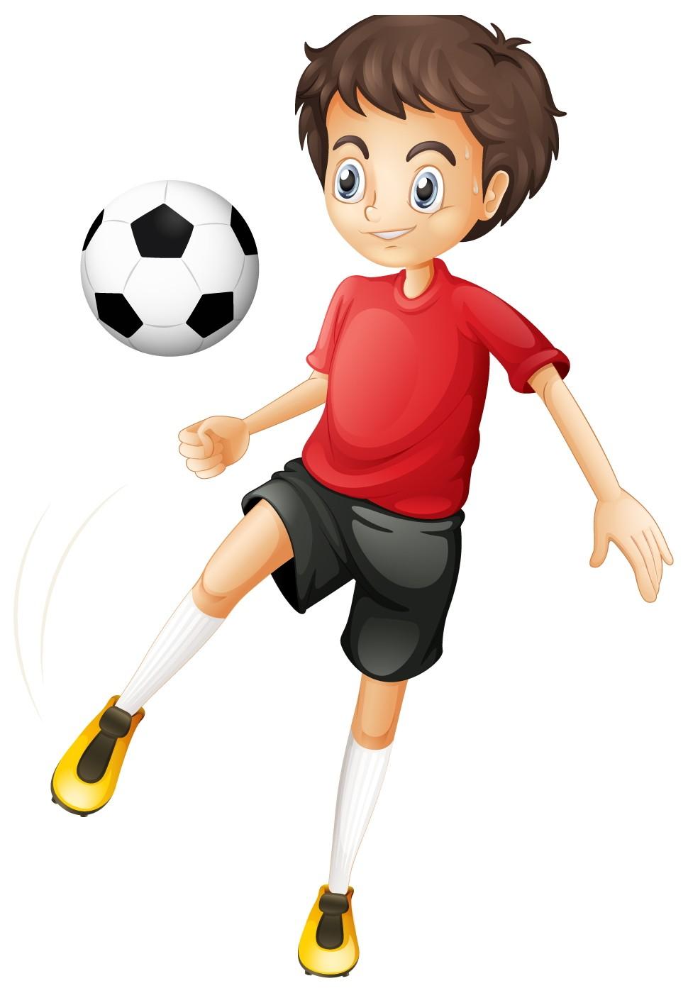 kids playing soccer  free cartoon images