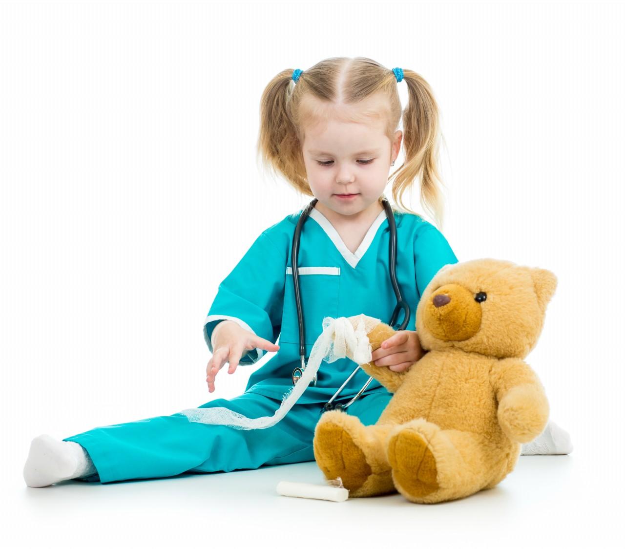 doctor kid Kid girl playing doctor
