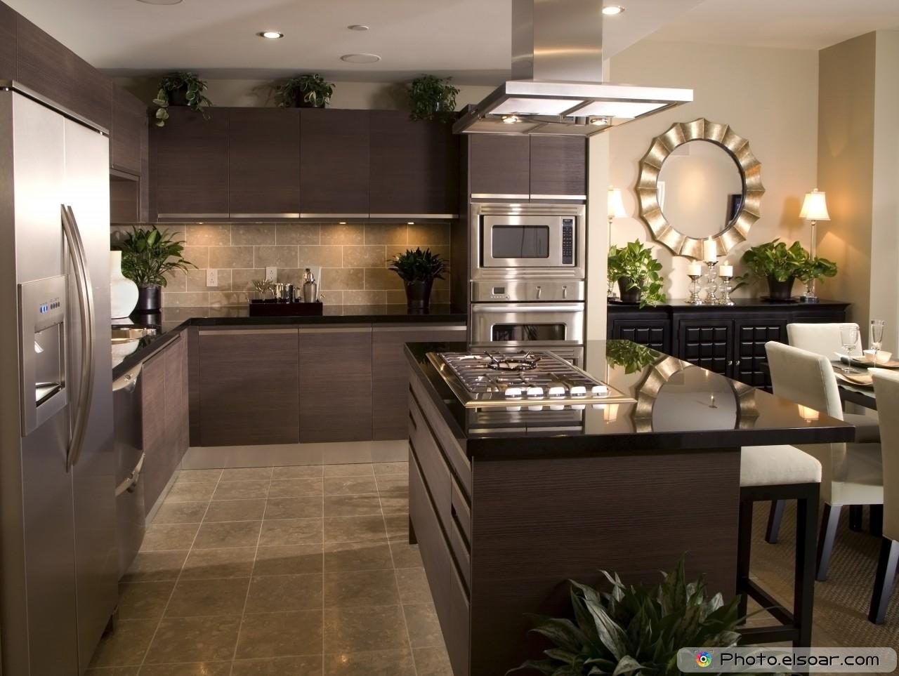 Kitchen Interior Design With Tiled