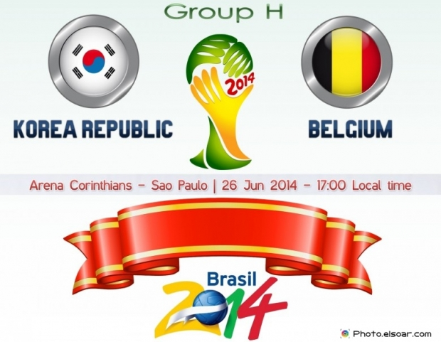 Korea Republic Vs Belgium - World Cup 2014 - 26 Jun 2014 - 17:00 Local time - GROUP H - Arena Corinthians - Sao Paulo