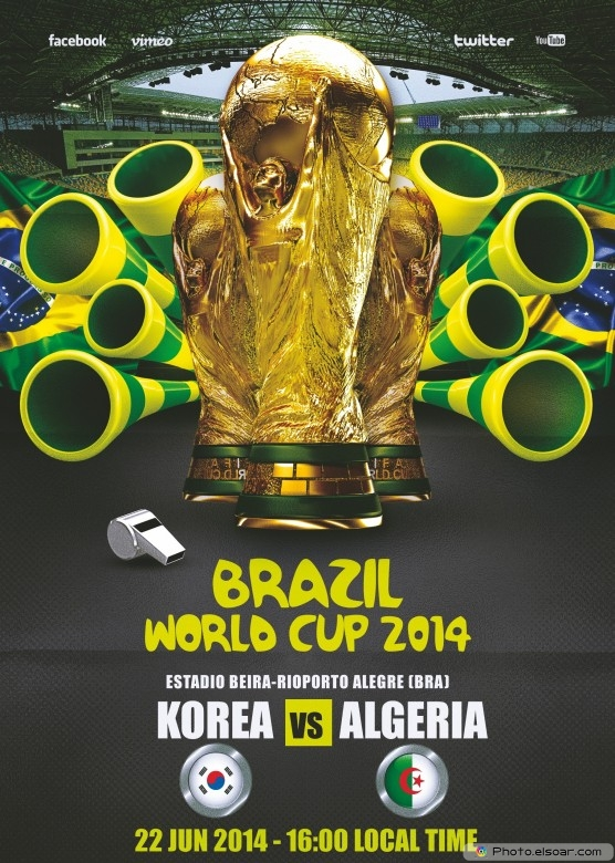 Korea Republic vs Algeria - World Cup 2014 - 22 Jun 2014 - 16:00 Local time - Group H - Estadio Beira-Rio - Porto Alegre