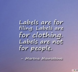 Labels are for filing