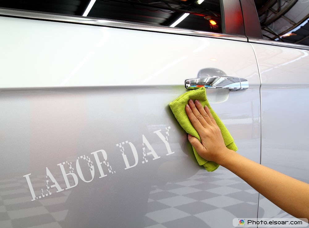 Labor Day Image With A Cleaner Cars