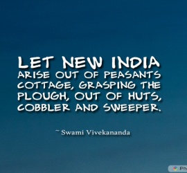 Let new India arise out of peasants cottage, grasping the