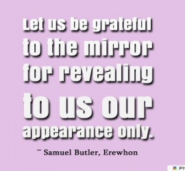 Let us be grateful to the mirror for revealing