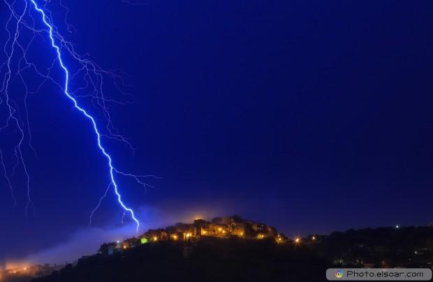 Lightning at night full hd wallpaper