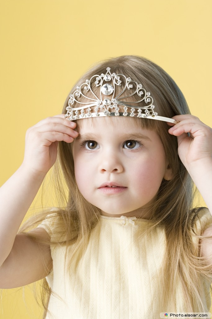 Little girl with tiara
