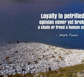 Loyalty to petrified