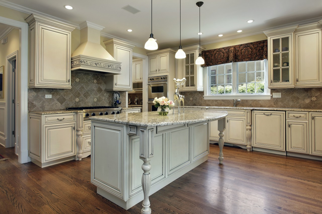 luxury kitchen with breakfast bar in upscale home 5