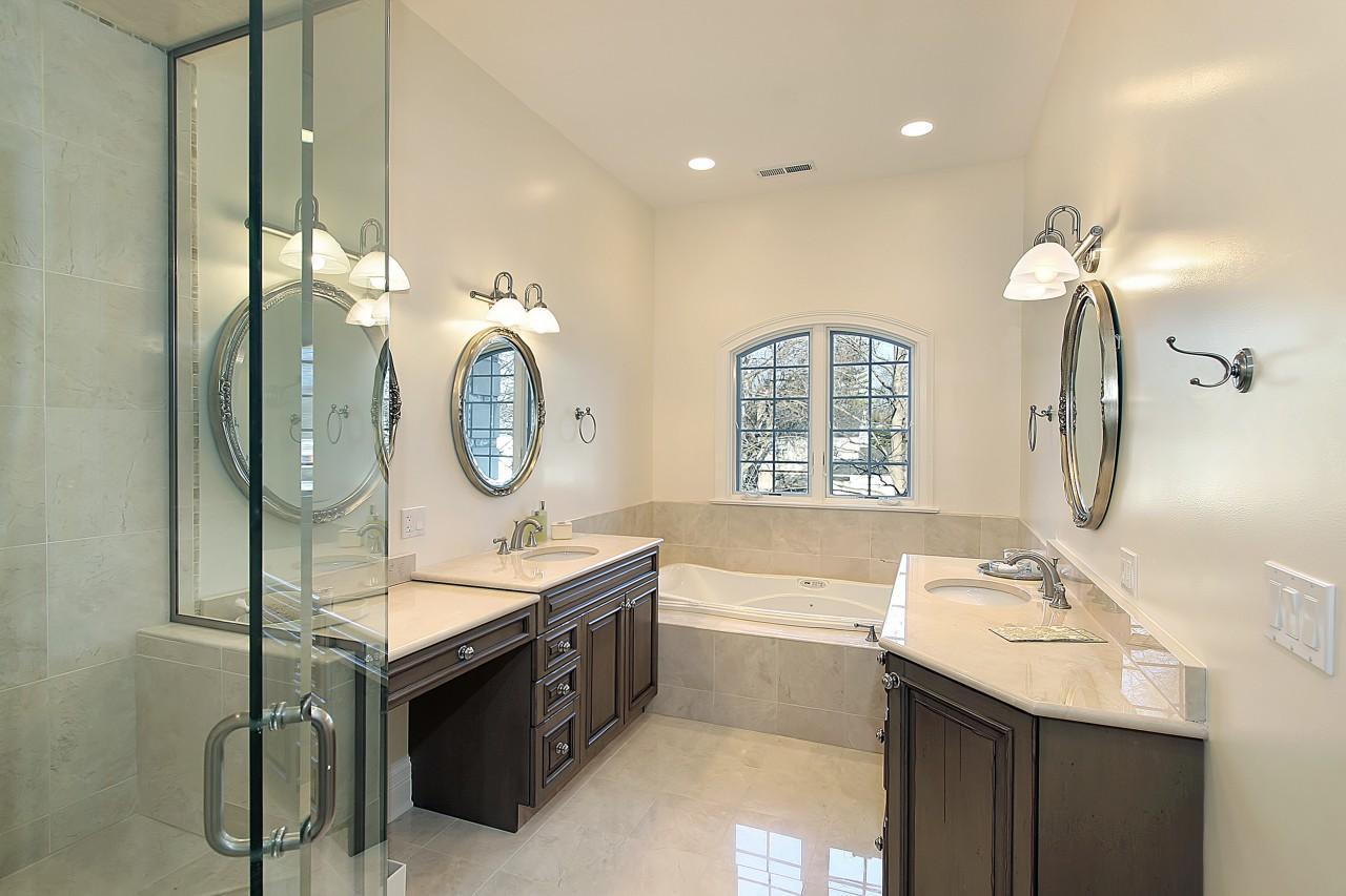 master bathroom in luxury home image 2