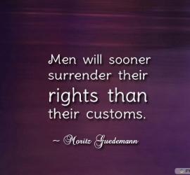 Men will sooner surrender