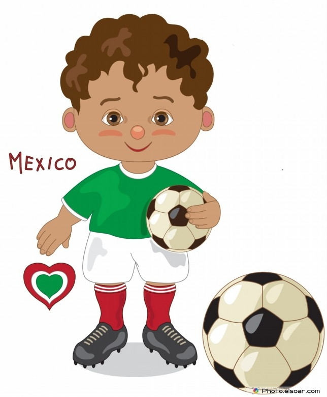 Mexico National Jersey, Cartoon Soccer Player