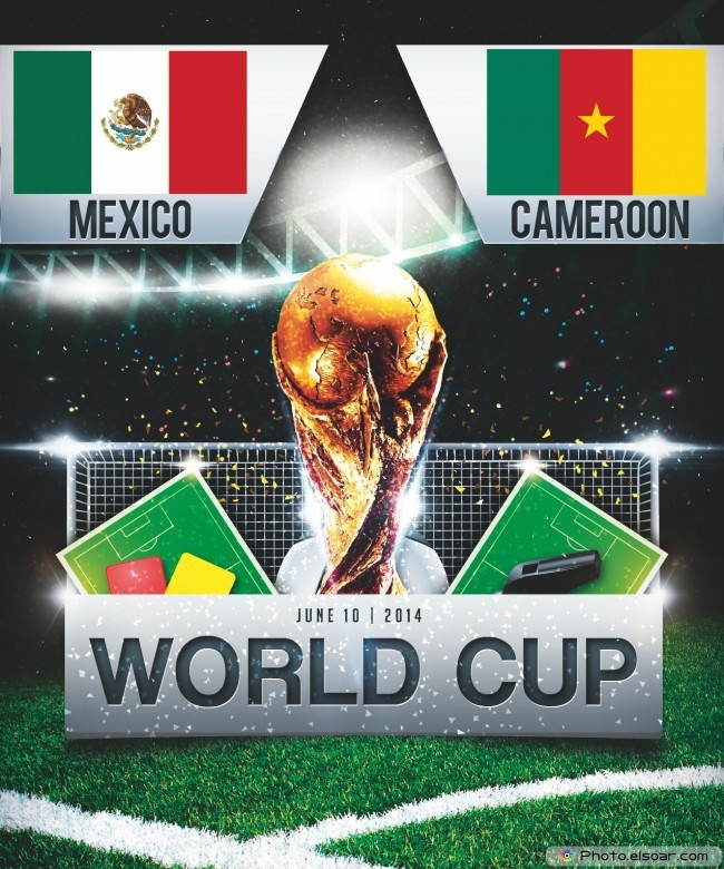 Mexico vs Cameroon - World Cup 2014 - 13:00 Local time - GROUP A - Estadio das Dunas - Natal