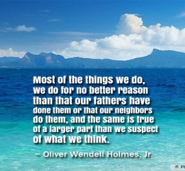 Most of the things we do