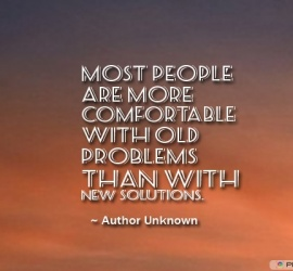 Most people are more comfortable