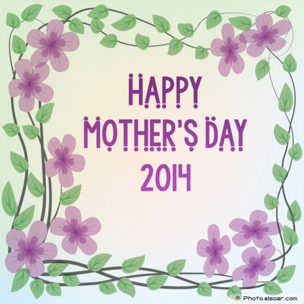 Mother's Day Card 2014 Within the framework of purple flowers