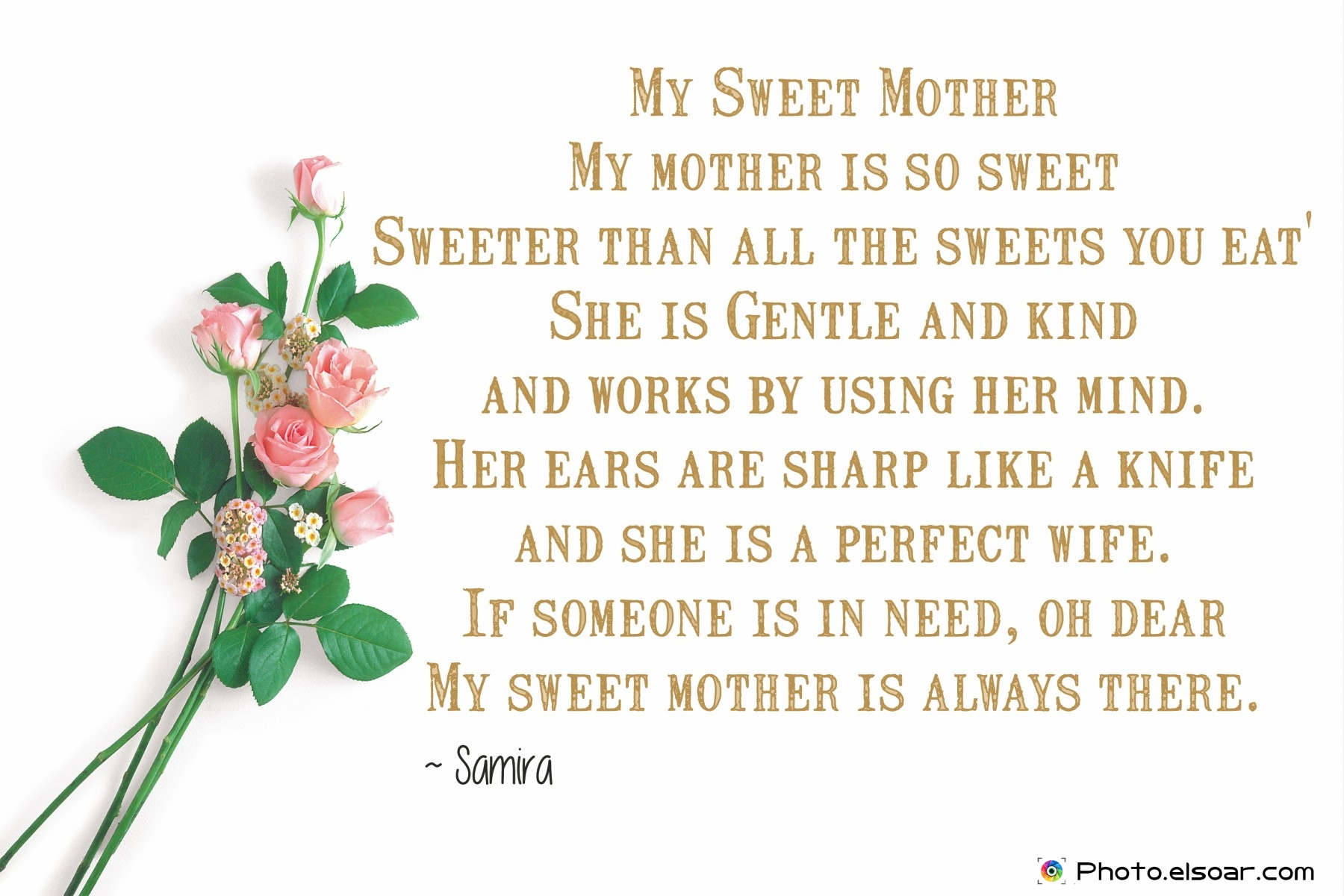 10 Most Expressive Poems For Mother's Day, Unique Designs • Elsoar